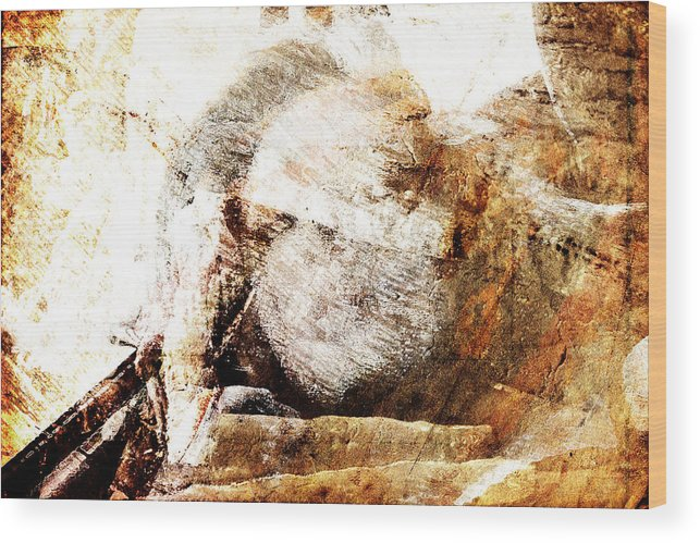 Wake Up Wood Print featuring the digital art Waking Up by Andrea Barbieri