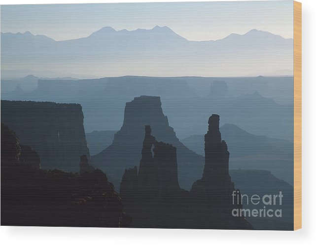 Utah Wood Print featuring the photograph Washerwoman Arch by Stan and Anne Foster