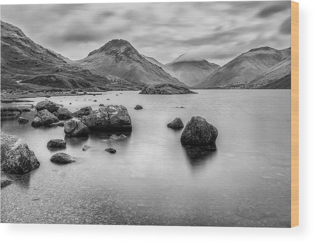 Wastwater Wood Print featuring the photograph Wastwater Long Exp by Graham Moore