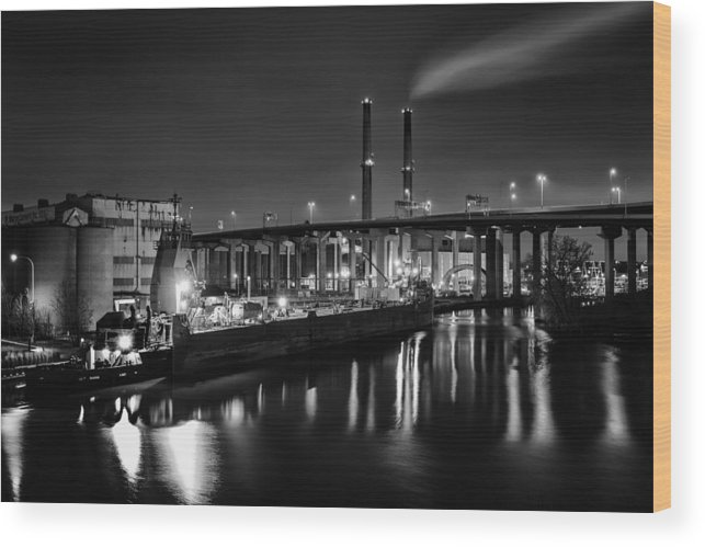 Www.cjschmit.com Wood Print featuring the photograph Water And Cement by CJ Schmit
