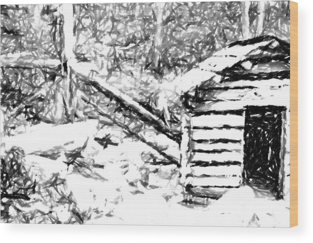 Water Wood Print featuring the photograph Water Cabin by Bj Hodges