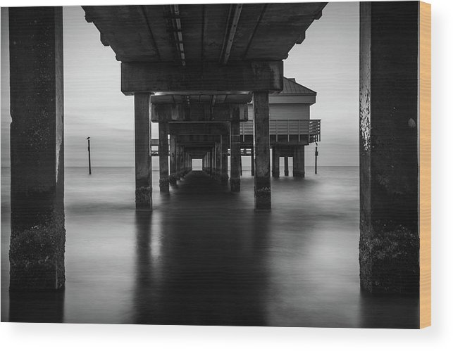Dock Wood Print featuring the photograph Water Under The Dock by Christian Gross