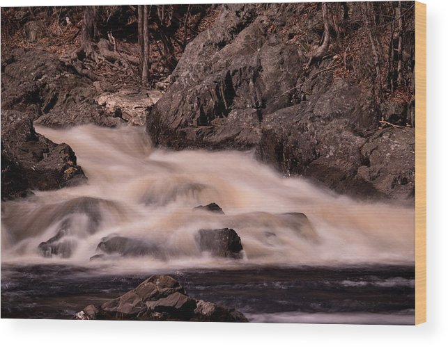 Water Wood Print featuring the photograph Waterfalls #1 by James Nalesnik