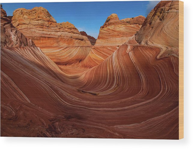 Arizona Wood Print featuring the photograph Wavescape by TM Schultze