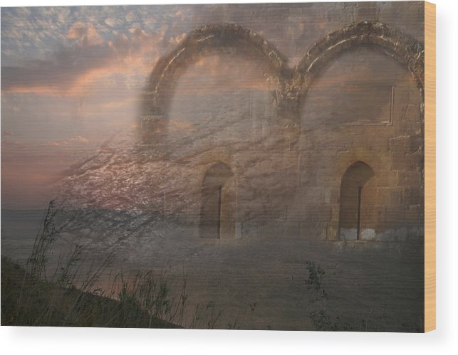 Sunset Wood Print featuring the photograph Way Of Entry by M Kathleen Warren