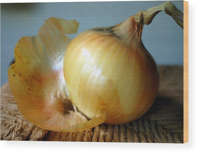 Food Wood Print featuring the photograph We All Have Layers by Heather S Huston