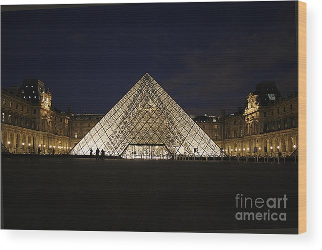 Louvre Museum Wood Print featuring the photograph Welcome To The Louvre by Joshua Francia