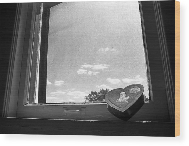 Window Wood Print featuring the photograph What Remains by Ted M Tubbs