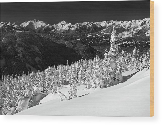 Whistler Wood Print featuring the photograph Whistler Mountain Winter Scenery by Pierre Leclerc Photography