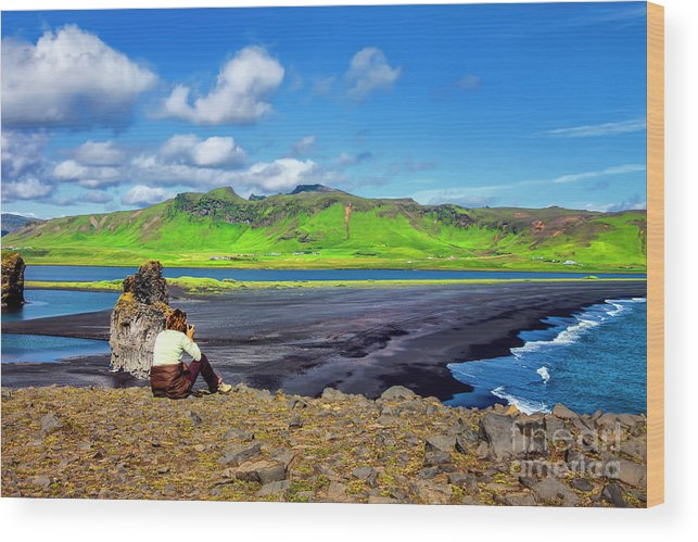 Iceland Lava Beaches Old Volcanoes Wood Print featuring the photograph Wide View by Rick Bragan