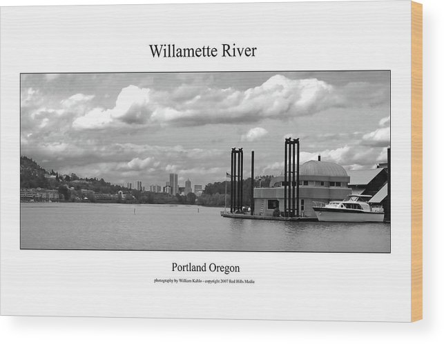 Portland Photographs Wood Print featuring the photograph Willamette River by William Jones