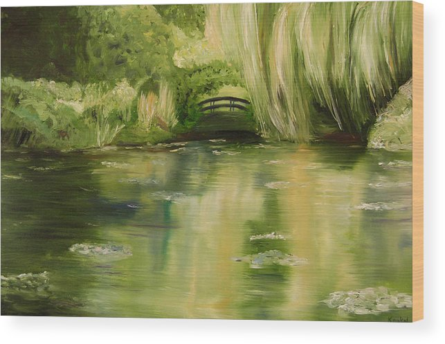 Konkol Wood Print featuring the painting Willow At Monet by Lisa Konkol