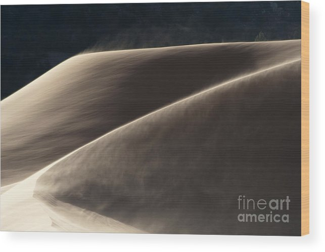 Southwest Wood Print featuring the photograph Windswept Dunes by Sandra Bronstein