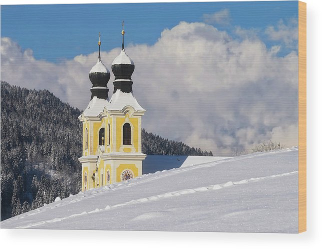 Church Wood Print featuring the photograph Winter Illusion by Edin Kolic