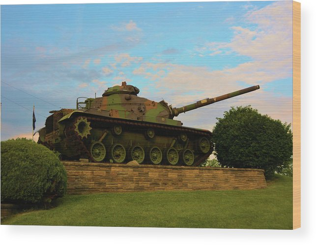 Weapons Wood Print featuring the photograph World War Two Tank by Richard Jenkins