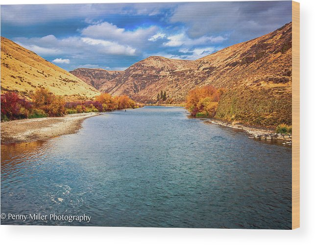 Wood Print featuring the photograph Yakima River by Penny Miller