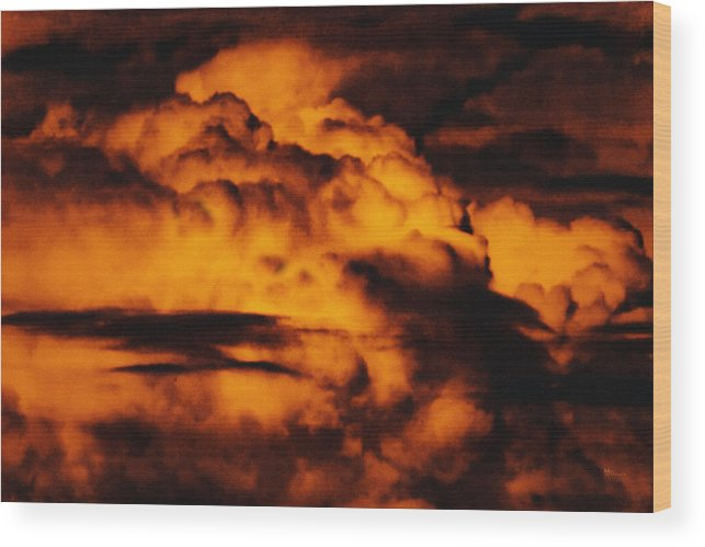 Cloud Wood Print featuring the digital art Clouds Time by Max Steinwald