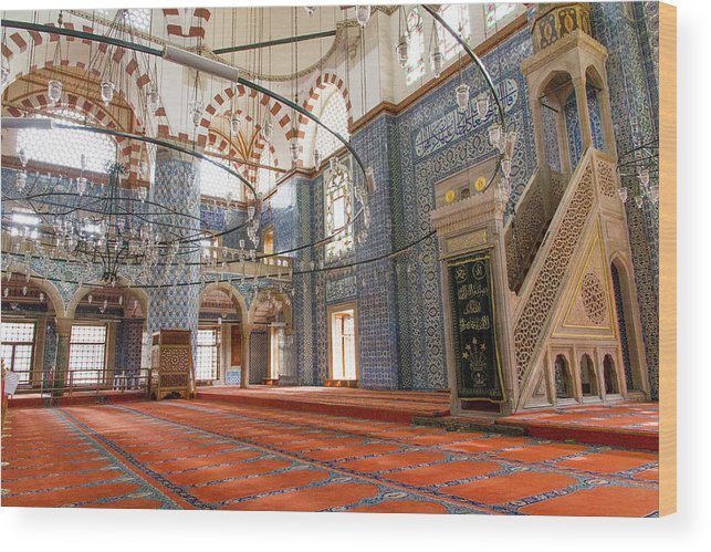 Asia Wood Print featuring the photograph Yeni Cami Mosque by Emily M Wilson