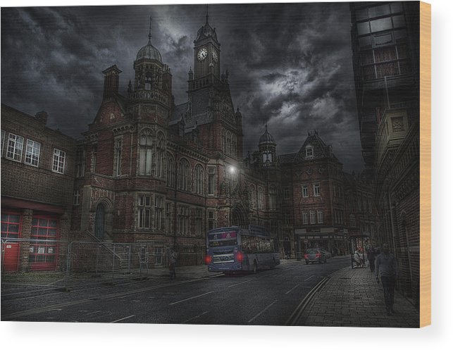 Architecture Wood Print featuring the photograph York And Selby Magistrates Court by Mark Hunter