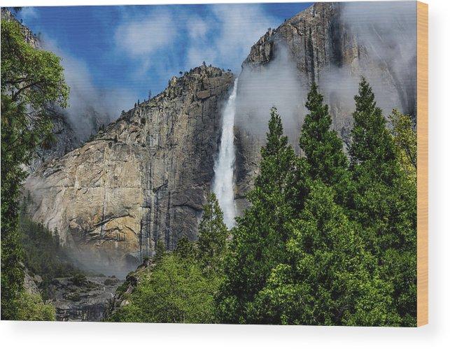 California Wood Print featuring the photograph Yosemite Falls by Randy Herring