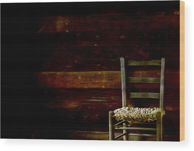 Chair Wood Print featuring the photograph You Have A Place In My Heart And In My Home by Ruben Flanagan