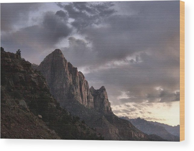 Zion Wood Print featuring the photograph Zion Mountain #2 by John Knoppers
