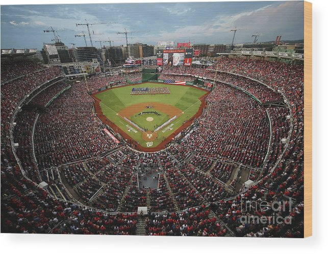 American League Baseball Wood Print featuring the photograph 89th Mlb All-star Game, Presented By by Win Mcnamee
