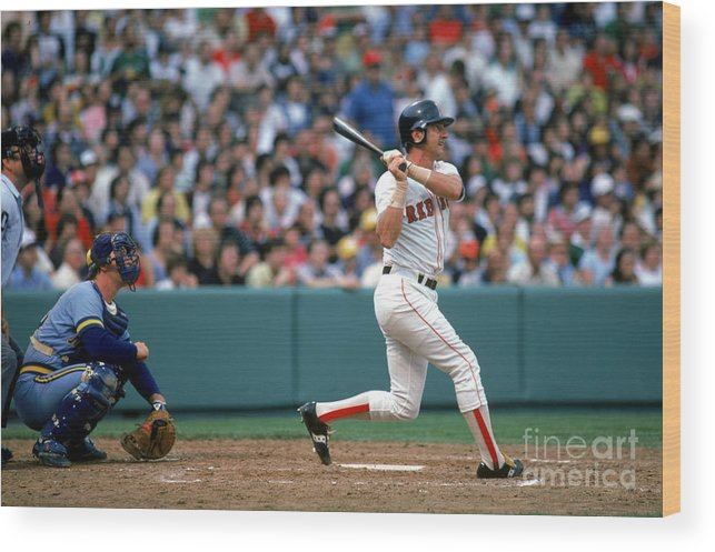 1980-1989 Wood Print featuring the photograph Boston Red Sox 1 by Rich Pilling