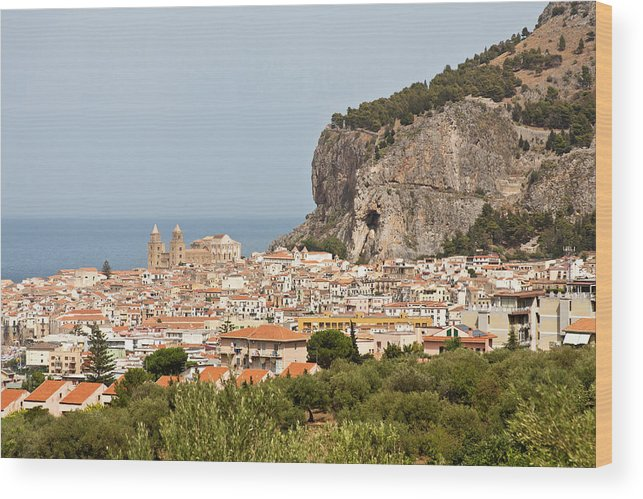 Cefalu, Palermo, Sicily Wood Print by Latitudestock - Mel Longhurst