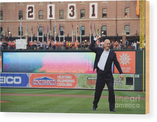People Wood Print featuring the photograph Tampa Bay Rays V Baltimore Orioles by Patrick Mcdermott