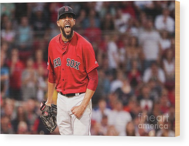 David Price Wood Print featuring the photograph Tampa Bay Rays V Boston Red Sox - Game 1 by Adam Glanzman