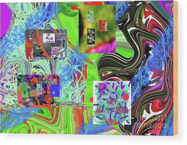 Walter Paul Bebirian Wood Print featuring the digital art 11-8-2015babcdefghijklmnopqrtuvwxyzabcde by Walter Paul Bebirian