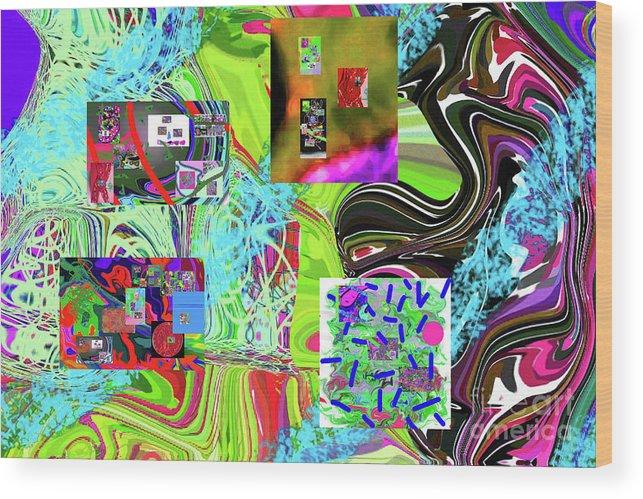 Walter Paul Bebirian Wood Print featuring the digital art 11-8-2015babcdefghijklmnopqrtuvwxyzabcdefg by Walter Paul Bebirian