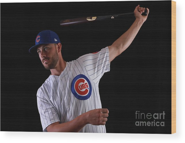 Media Day Wood Print featuring the photograph Chicago Cubs Photo Day 12 by Gregory Shamus