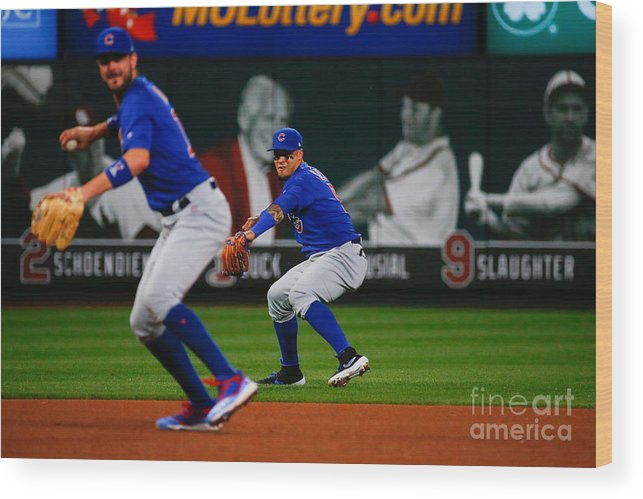 People Wood Print featuring the photograph Chicago Cubs V St Louis Cardinals 12 by Dilip Vishwanat