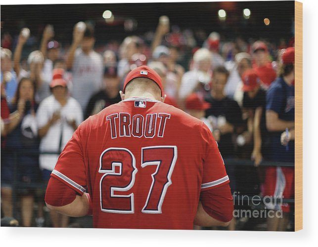 People Wood Print featuring the photograph Los Angeles Angels Of Anaheim V Arizona 18 by Christian Petersen