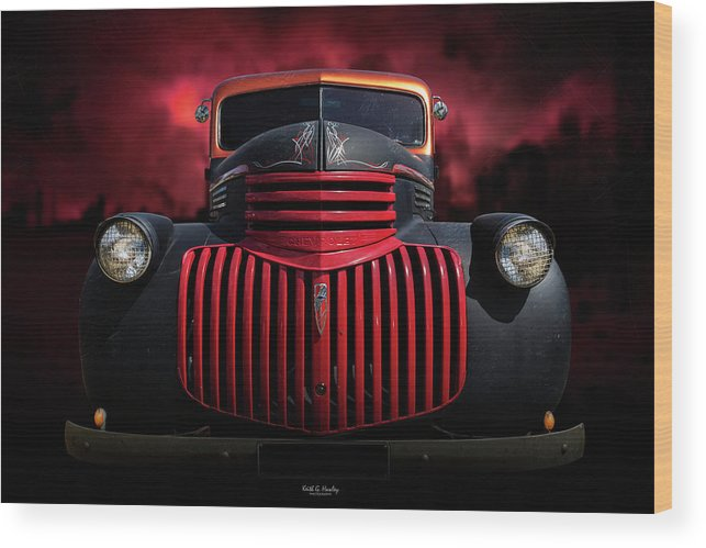 Pickup Wood Print featuring the photograph 1946 Pickup by Keith Hawley