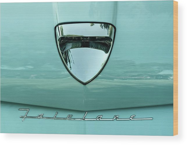 Vehicle Wood Print featuring the photograph 1958 Ford Fairlane by Scott Norris