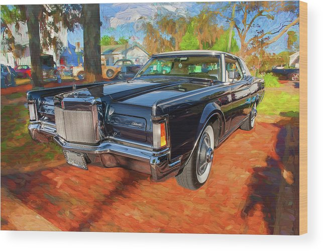 1971 Lincoln Wood Print featuring the photograph 1971 Lincoln Continental Mark IIi 100 by Rich Franco