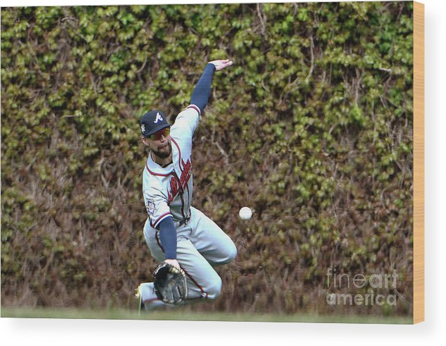 People Wood Print featuring the photograph Atlanta Braves V Chicago Cubs 2 by David Banks