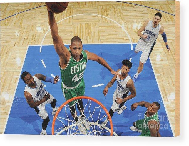 Nba Pro Basketball Wood Print featuring the photograph Boston Celtics V Orlando Magic 2 by Fernando Medina