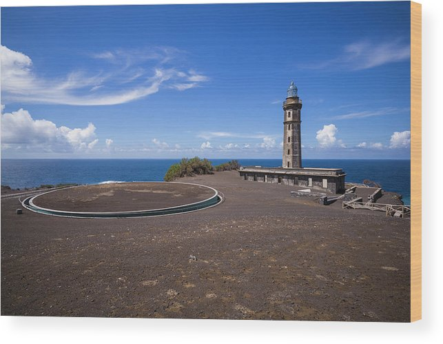 Azores Wood Print featuring the photograph Portugal, Azores, Faial Island by Walter Bibikow