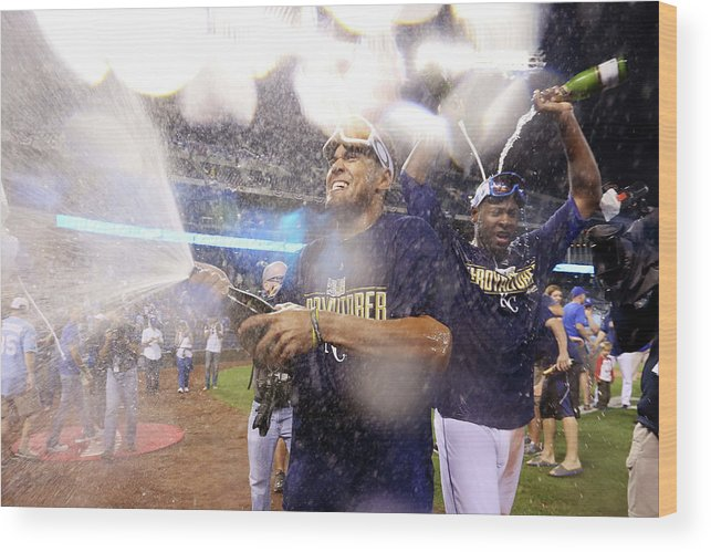 Playoffs Wood Print featuring the photograph Wild Card Game - Oakland Athletics V 2 by Ed Zurga