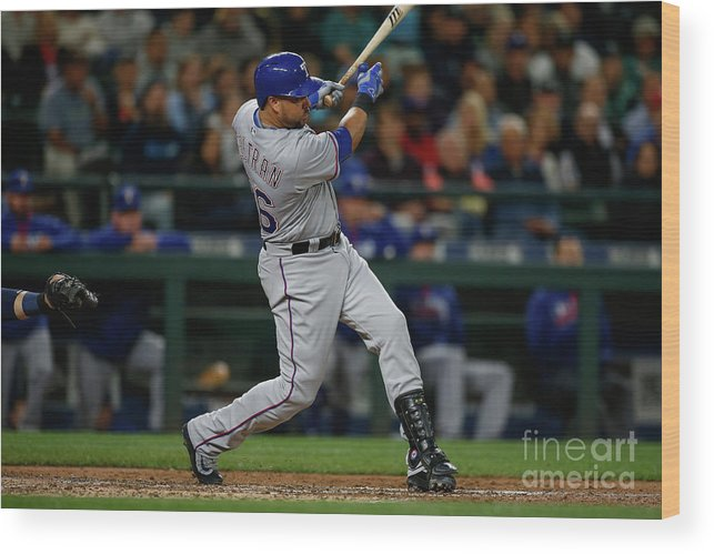 Second Inning Wood Print featuring the photograph Texas Rangers V Seattle Mariners 23 by Otto Greule Jr