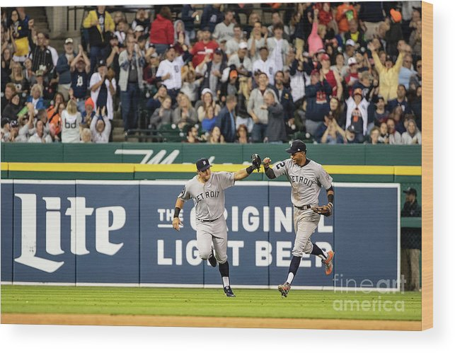 People Wood Print featuring the photograph St. Louis Cardinals V Detroit Tigers 3 by Dave Reginek