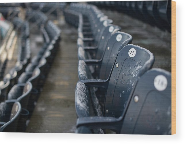 American League Baseball Wood Print featuring the photograph Chicago Cubs V. New York Yankees by Rob Tringali