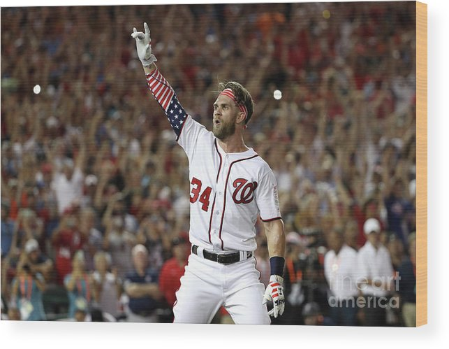 Three Quarter Length Wood Print featuring the photograph T-mobile Home Run Derby 4 by Patrick Smith