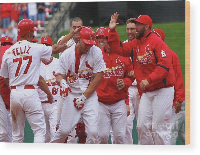 St. Louis Cardinals Wood Print featuring the photograph Colorado Rockies V St. Louis Cardinals 5 by Dilip Vishwanat