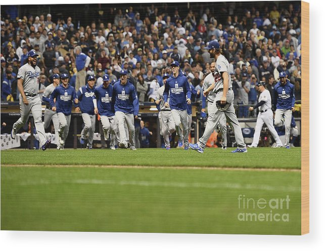 American League Baseball Wood Print featuring the photograph League Championship Series - Los 5 by Stacy Revere