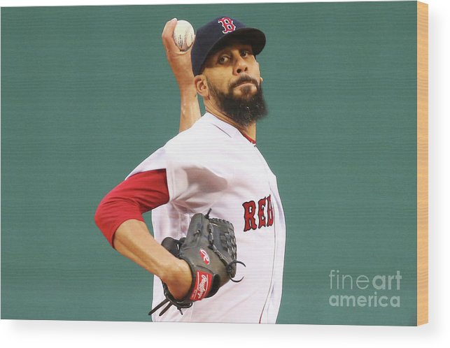 David Price Wood Print featuring the photograph Tampa Bay Rays V Boston Red Sox 5 by Adam Glanzman